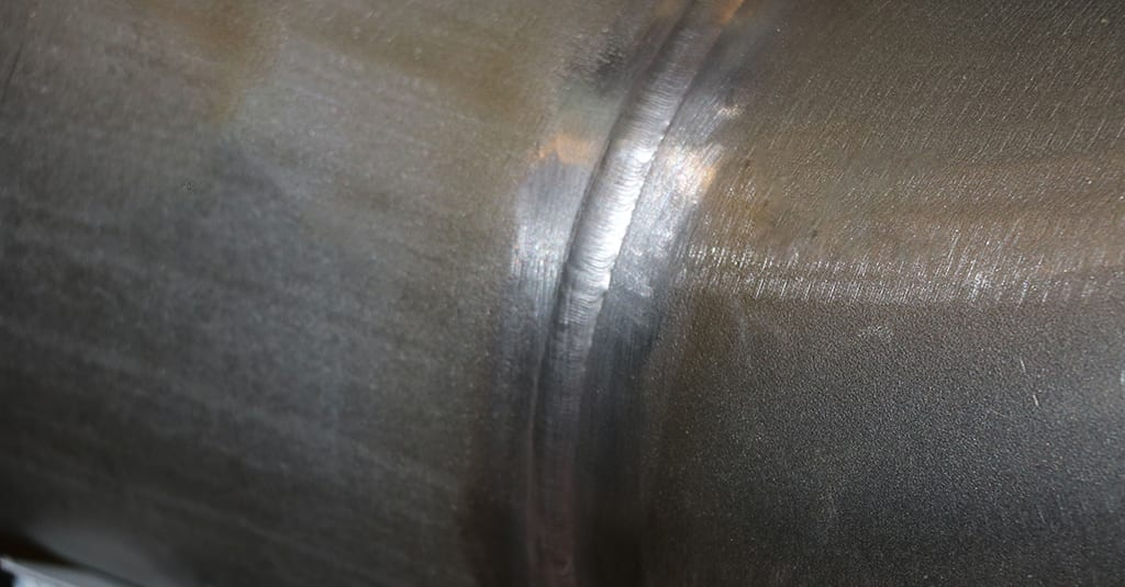 Completed Weld on Stainless Steel Pipe Spool Project